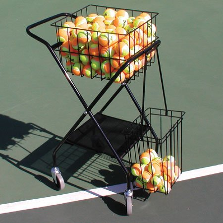 - Oncourt Offcourt Mini Coach's Cart - 150 Ball Capacity/Portable Traveling Cart/Comes with Removable Divider