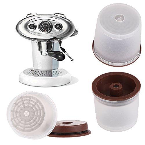 Recargables reutilizable filtro de café ILLY - juego de 2 Cápsulas de café ILLY Compatible con Illy Y3 X8 Y5 X7.1 X (con cuchara de café) transparente: ...