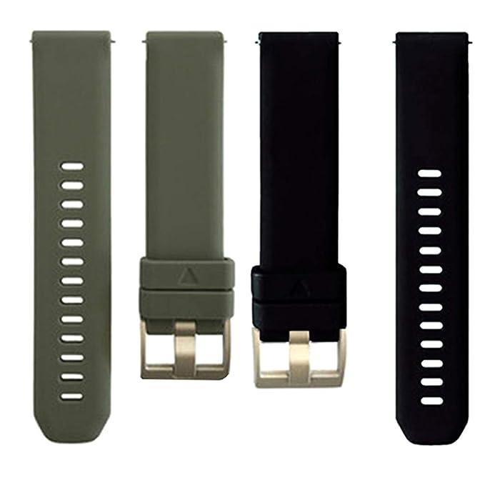 Amazon.com: SM SunniMix 2 Pieces 20mm Watch Band, Durable ...