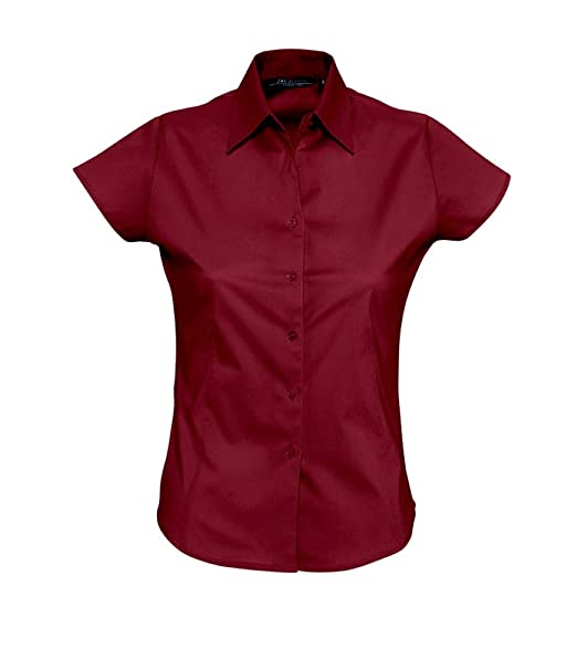 4a11c1f3bda SOL S Women s Short Sleeve Excess Fitted Shirt at Amazon Women s ...