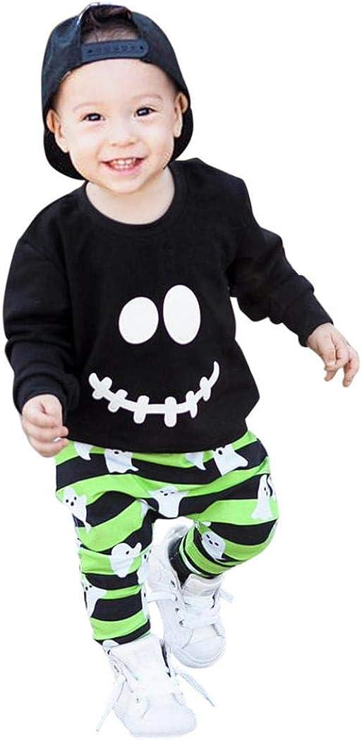 Conjuntos Bebe, ASHOP 0-4 años Niño Niña Otoño/Invierno Ropa Conjuntos, Dibujos Animados Fantasma Pullover + Pantalones: Amazon.es: Ropa y accesorios