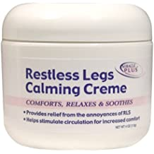 Restless Legs Calming Creme to Help Combat Fatigue, Irritability, Itching, Crawling, Shaking - 4 ounces