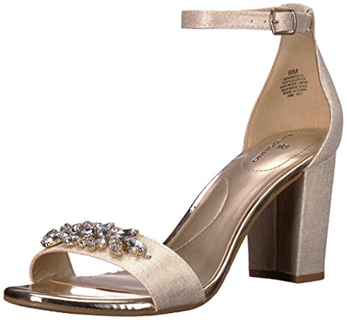 Bandolino Women's Anatolio Heeled Sandal, Gold, 8 M US Bandolino Womens Dress Sandals