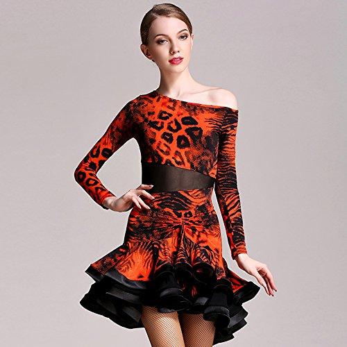 Sensen Costume Liu Danza Performance Latino Donne Dress Abito Dance Ballo Pratica Concorrenza Gonna Da Classico qHHpxBwR