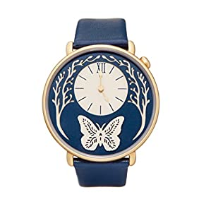 Dial by Sarah Dennis (Gold) - artist designed women's watch with 2 straps!