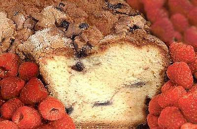 My Grandma's Golden Raspberry Coffee Cake