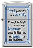 Zippo Serenity Prayer Satin Chrome Pocket Lighter