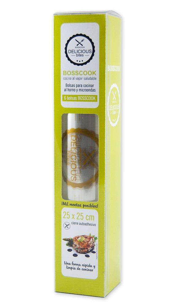 Luxos Packaging Bosscook - Pack de 6 bolsas para cocinar al ...