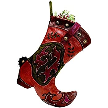 Amazon.com: Western Cowboy Boot Christmas Stocking ...