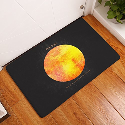 AILOVYO The Sun Star at the Center of Our Solar System Flannel Non-Slip Entry Way Floor Mat Outdoor Indoor Decor Rug Doormats, 15.7-Inch x 23.6-Inch (Of The Stone Center Sun Solar)