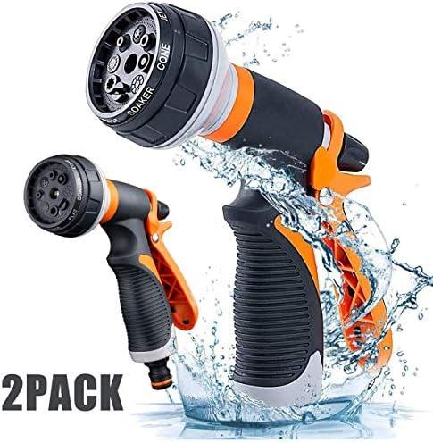 aipipl Multifunktionales Gartenwasserspritzgerät für den Außenbereich, Gartenschlauch-Spritzpistole mit 8 einstellbaren Düsenmodi, rutschfestes Design, am besten zum Reinigen und Sprühen geeignet,