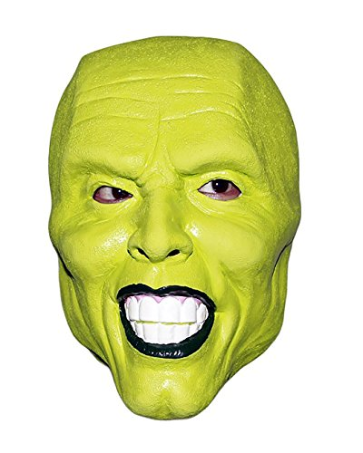 Jim Carrey The Mask Latex Mask for Costume Party Halloween Fancy Dress Green -