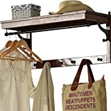 LQQGXLModern minimalist coat rack, Garden style wrought iron bathroom shelf storage rack wall mount