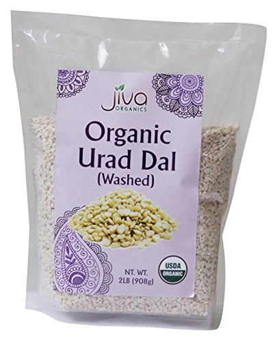 2 Lb Small Animal Foods - Jiva USDA Organics Urad Dal (Split Matpe Beans) 2 Pound - NEW Packaging!