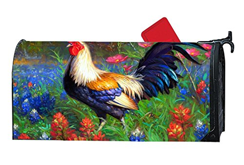 DIY Decorative Birds Seasons Flowers Rooster Magnetic Mailbox Cover Standard Mailbox Wrap with Animals Design