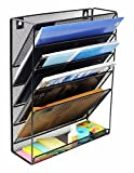 Quality File Organizer-Metal Mesh Mount Hanging Wall File Organizer, Desk Organizer for Office Home - by QualityMurch