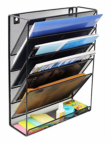 Quality File Organizer-Metal Mesh Mount Hanging Wall File Organizer, Desk Organizer for Office Home - by QualityMurch by QualityMurch