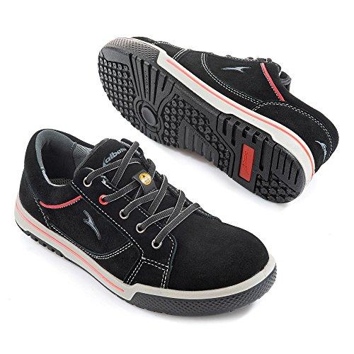 Albatros Freestyle Black LOW, Unisex-Erwachsene  Sicherheits-Sneakers, Schwarz (schwarz), 39 EU