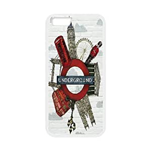 Kweet Big Ben IPhone 6 Case Fashionable The Big Ben Ang Bus, Phone Case For Iphone 6 [White]