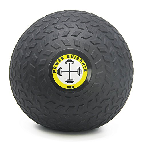POWER GUIDANCE Slam Ball, Medicine Ball, Weight Available: 6, 8, 10, 15, 20, 25, 30 Lbs, Great for Core Training & Cardio Workouts (10)