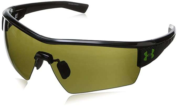 47769f6ff394 Under Armour Fire Shiny Black Frame, with Black Rubber and Game Day Lens