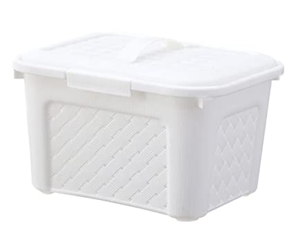 Yiliag Fashion Rectangular Plastic Storage Bins Picnic Basket Bathroom Storage Basket-White  sc 1 st  Amazon.com & Amazon.com: Yiliag Fashion Rectangular Plastic Storage Bins Picnic ...