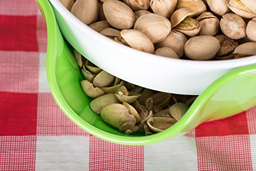 Pistachio Bowl with Shell Storage - Double Dish Snack Serving Bowl - for Pistachios, Peanuts, Edamame, Cherries, Nuts, Fruits, Candies - by Kitchen Winners by Kitchen Winners (Image #5)
