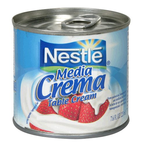 Nestle Media Crema Table Cream, 7.6-Ounce Containers (Pack of 24)