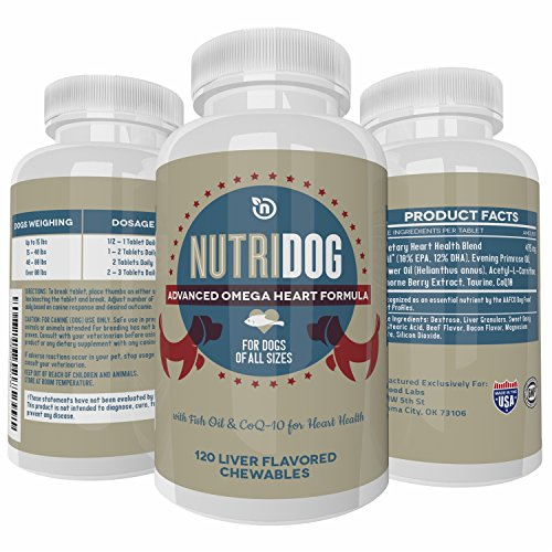 All-Natural Canine Omega-3 Heart Liver Chewables Supports Heart Function Joint Pain Relief (Linatone Food Supplement)