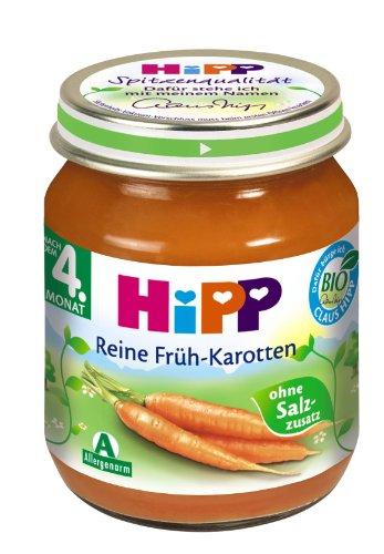 Hipp Reine Früh-Karotten, 6-er Pack (6 x 125 g) - Bio