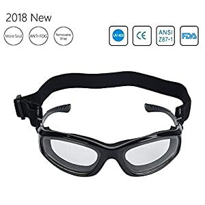 [2018 New] Upgrade Barbecue Goggles for Grilling BBQ Food - Tears Free Protector - Multipurpose Goggles with Adjustable Removable Strap (Black)