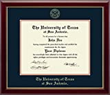 University of Texas San Antonio Gold Embossed Diploma Frame - Features Solid Hardwood ''Gallery'' Moulding - Officially Licensed - 11''h x 14''w Diploma Size - By Church Hill Classics