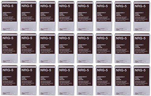 Notverpflegung, NRG-5, 1 Karton mit 24 Packungen a 500 g, (9 Riegel) Notration