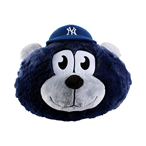 Fabrique Innovations MLB New York Yankees Nogginz Plush Toy, Medium, Blue (Plush Mascot Toys Stuffed)