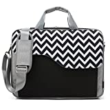 CoolBELL 15.6 Inch Nylon Laptop Bag Shoulder Bag With Strap Multicompartment Messenger Hand Bag Tablet Briefcase For iPad Pro/laptop/Macbook/Ultrabook/Men/Women/College (Black Wave)