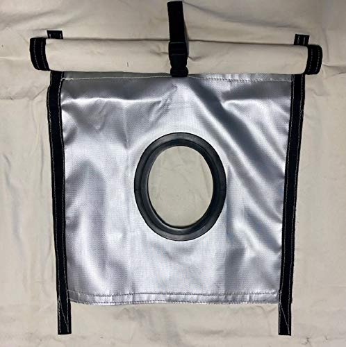"""Montana Canvas 5"""" Oval Stove Jack Replacement Kit, 10oz Treated Canvas, Hook and Loop Closure for Weather Flap, Quality"""
