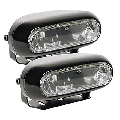 Optilux H71010281 Model 1200 12V/55W Rectangular Clear Halogen Fog Lamp Kit