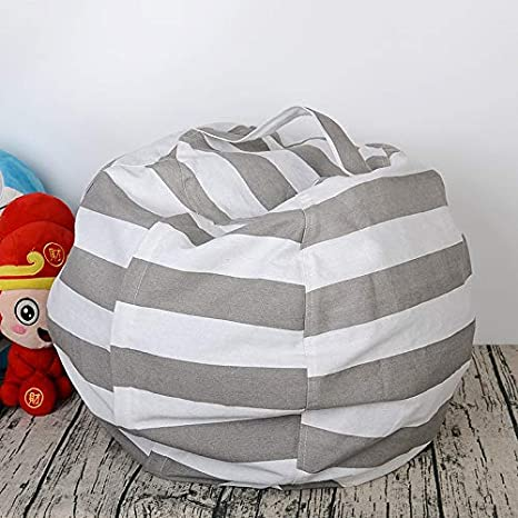 Incredible W Shig 24 Inch Stuffed Animal Storage Bean Bag Chair With Handle Extra Large Empty Bean Bags Cover Kids Toy Storage Bag Clothes Organizer Pdpeps Interior Chair Design Pdpepsorg