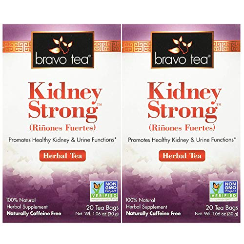 Bravo Teas Kidney Strong, 20 Tea Bags 2 Pack