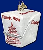 Old World Christmas Chinese Take-Out Glass Blown Ornament