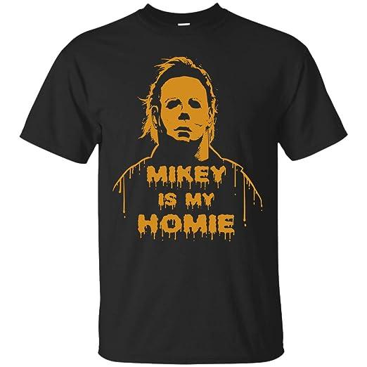 feda4b067747 Amazon.com  Bumo Store Michael - Myers Mikey is My Homie Shirt Cotton  Shirt  Clothing