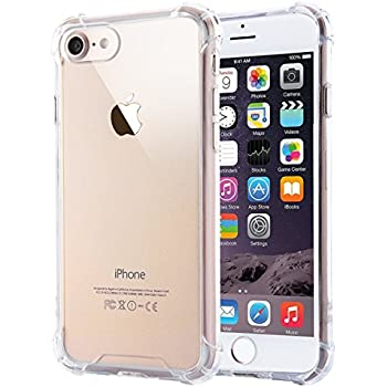 iPhone 7 Case/ iPhone 8 Case SKONYON Clear Backing and Frame TPU with Shockproof Corner 360 Degree Protection for iPhone 7/ iPhone 8 - Clear