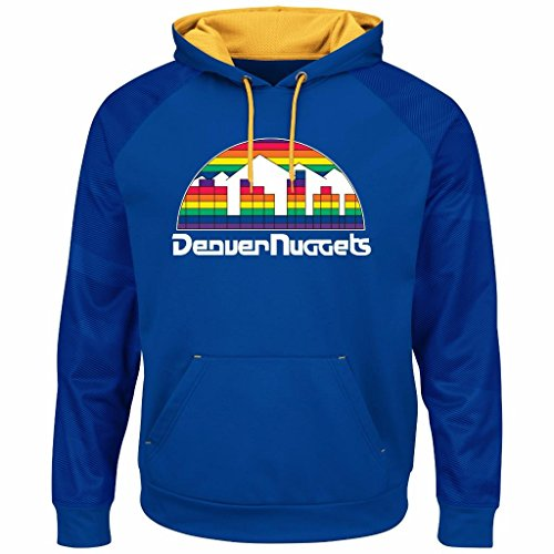 Majestic NBA Men's Armor II Polyester Pullover Hoodie (XL, Denver Nuggets) by Majestic
