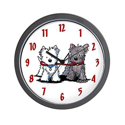 CafePress - Terrier Walking Buddies Wall Clock - Unique Decorative 10