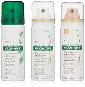 Klorane 3-to-Go Mix Assortment Dry Shampoo, 3 oz.