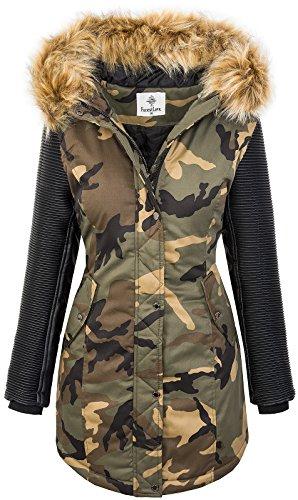 D Veste Hiver Camouflage Brun Parka Rock 349 Femme Creek YnxxS