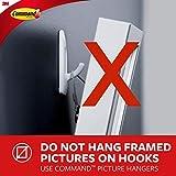 Command Hooks, White, Large, 4 hooks, 8