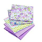 quilting fabric with 5 stars - Floral Quilting Cotton Fabric Star Patchwork Fabric Fat Quarter Bundles Fabric For Handmade Bags Purse Pillowcase 40X50cm 8pcs/lot (As Picture Shown)