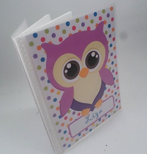 Girl Photo Album. 181. Owl . Personalized Baby photo Book. 4x6 or 5x7 picture album,