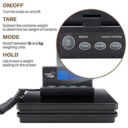 Smart Weigh Digital Shipping and Postal Weight Scale, 110 lbs x 0.1 oz, UPS USPS Post Office Scale by Smart Weigh (Image #5)